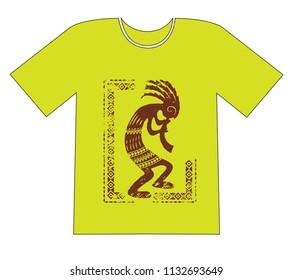 Printing on a T-shirt. Native Americans ethnic symbol 0786e379e2ce