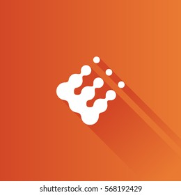 Printing raster dots icon in Metro user interface color style. Print color density concept