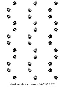 Prints dog paws, seamless pattern, vector