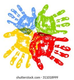 Prints of hands