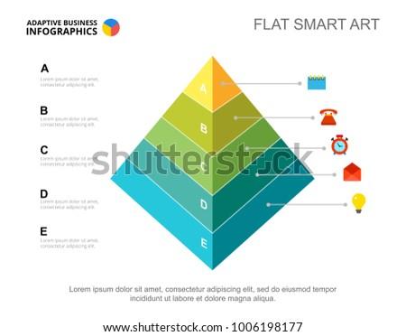 priorities pyramid slide template stock vector royalty free