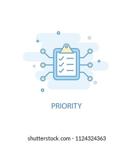 Priority concept trendy icon. Simple line, colored illustration. Priority concept symbol flat design from Artificial Intelligence  set. Can be used for UI/UX