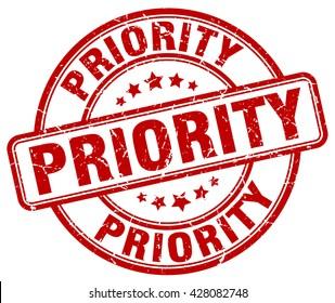 priority. stamp