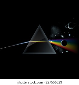 Prism and the big bang, the birth of the cosmos, eps10 vector