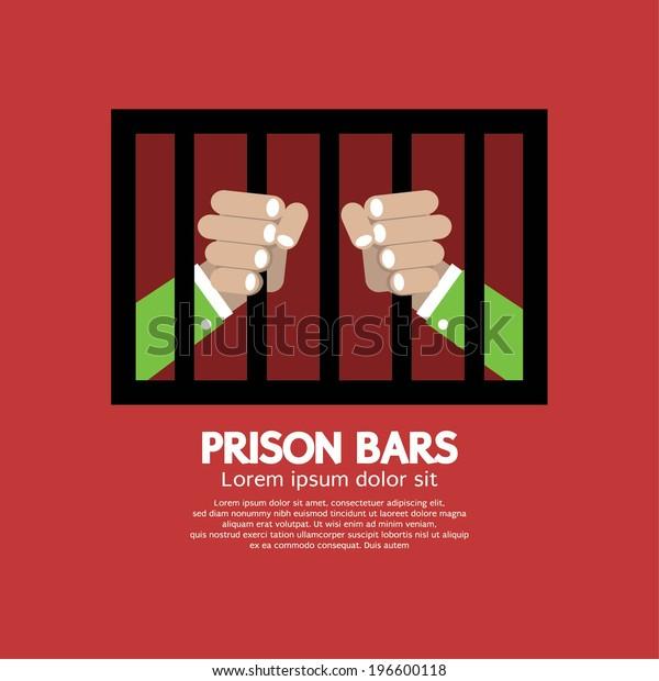 Prison Bars Graphic Vector Illustration