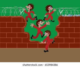 Prison Escape Images, Stock Photos & Vectors | Shutterstock
