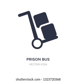 prison bus icon on white background. Simple element illustration from Transport concept. prison bus sign icon symbol design.