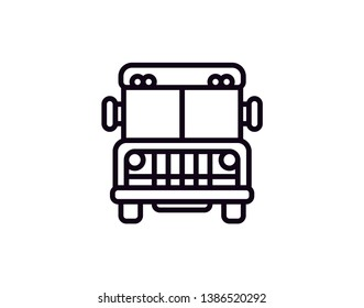 prison bus icon vector on white background, prison bus trendy filled icons from Transport collection, prison bus vector illustration - Vector