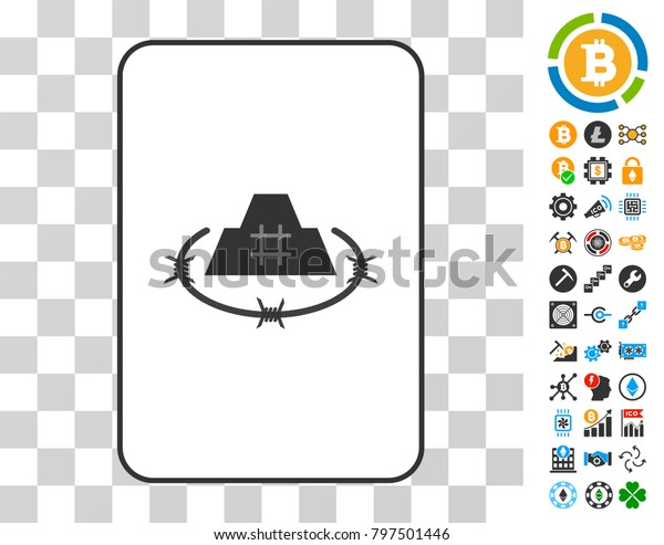 Prison Citadel Playing Card Pictograph Bonus Stock Vector Royalty Free 797501446