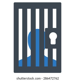 Prison icon from Business Bicolor Set. Vector style: bicolor flat symbol, smooth blue colors, rounded angles, white background.