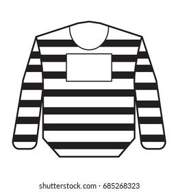 prison uniform icon outline