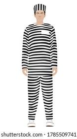 Prisoner in uniform. vector illustration