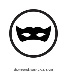 privacy mask icon design vector for multiple use