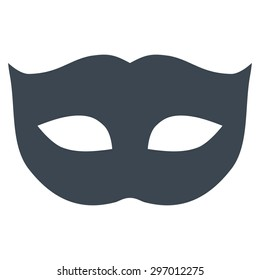 Privacy Mask icon from Primitive Set. This isolated flat symbol is drawn with smooth blue color on a white background, angles are rounded.