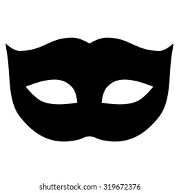 Privacy Mask icon from Primitive Set. This isolated flat symbol is drawn with black color on a white background, angles are rounded.