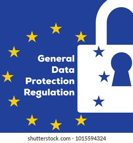 Privacy policy General Data Protection Regulation GDPR. European Union gdpr vector illustration. GDPR is General Data Protection Regulation in European Union.