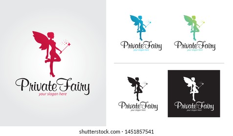 Private fairy creative and minimal logo template