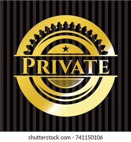 Private golden emblem or badge