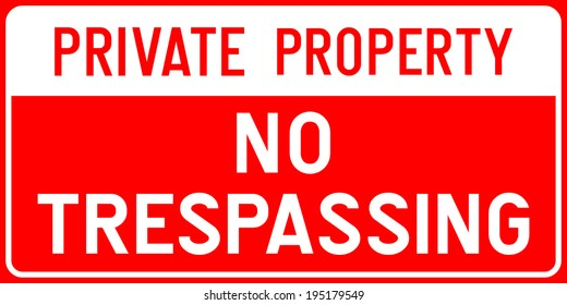 Private Property - No Trespassing Sign in Vector