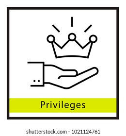 Privileges vector icon