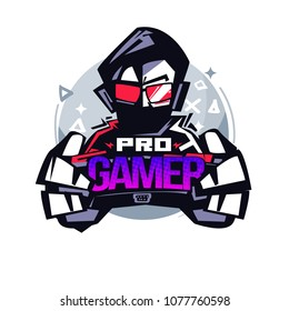Pro Gamer. Gamer logo - vector illustration