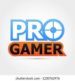 Pro gamer logo - vector illustration