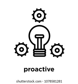 proactive icon isolated on white background, vector illustration, proactive logo concept