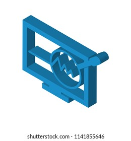 proactive isometric right top view 3D icon