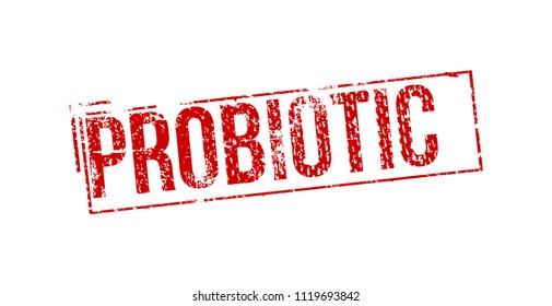 Probiotic grunge rubber stamp