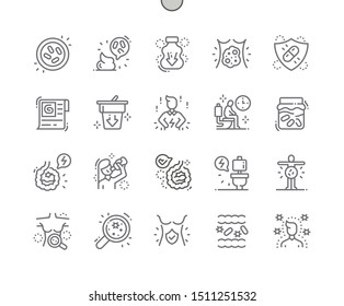 Probiotics Well-crafted Pixel Perfect Vector Thin Line Icons 30 2x Grid for Web Graphics and Apps. Simple Minimal Pictogram