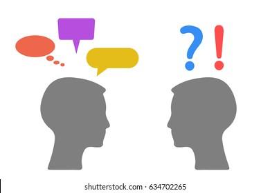 Problem communication - stock vector
