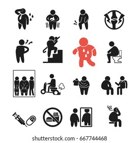 Obesity Icon Images Stock Photos Vectors Shutterstock