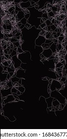 Procedural Art Network Mesh background illustration