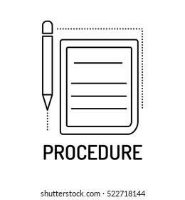PROCEDURE Line icon
