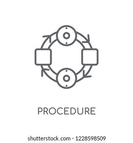 Procedure linear icon. Modern outline Procedure logo concept on white background from Startup Strategy and Success collection. Suitable for use on web apps, mobile apps and print media.