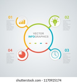 Process chart. Abstract elements of graph, diagram with steps, options, parts or processes. Business data visualization. Vector business template for presentation. Creative concept for infographic