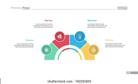 Process Chart with Four Elements Slide