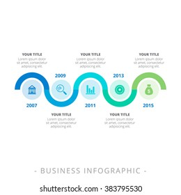 Process Chart Infographic Template
