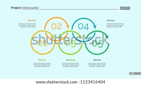 Process Diagram Five Elements Cycle Chart Stock Vector