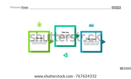 Process Diagram Three Steps Template Stock Vector Royalty Free - Process steps template