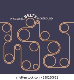 Processing belts. Conveyor line background