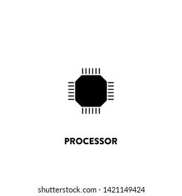 processor icon vector. processor sign on white background. processor icon for web and app