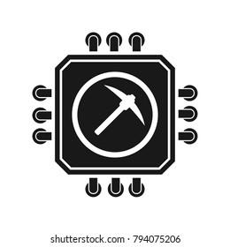 Processor Minig sign illustration