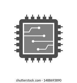 Processor Parts and Computer Circuit Panel Vector