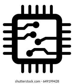 Processor Vector Icon