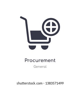 procurement icon. isolated procurement icon vector illustration from general collection. editable sing symbol can be use for web site and mobile app