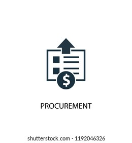 procurement icon. Simple element illustration. procurement concept symbol design. Can be used for web and mobile.
