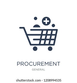 procurement icon. Trendy flat vector procurement icon on white background from General collection, vector illustration can be use for web and mobile, eps10