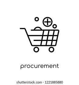 procurement icon. Trendy modern flat linear vector procurement icon on white background from thin line General collection, editable outline stroke vector illustration