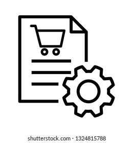 Procurement icon, vector